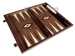 picture of 15-inch White Zebrano Backgammon Set - Walnut Field (9 of 12)