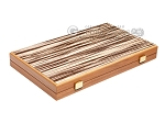 picture of 15-inch White Zebrano Backgammon Set - Walnut Field (10 of 11)