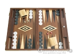 19-inch Walnut Backgammon Set - Black - Item: 2405