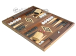 picture of 19-inch Walnut Backgammon Set - Black (3 of 12)