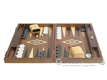 picture of 19-inch Walnut Backgammon Set - Black (4 of 12)