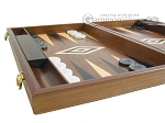 picture of 19-inch Walnut Backgammon Set - Black (5 of 12)