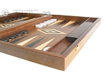 picture of 19-inch Walnut Backgammon Set - Black (6 of 12)