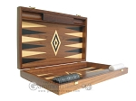 picture of 19-inch Walnut Backgammon Set - Black (7 of 12)