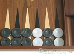 picture of 19-inch Walnut Backgammon Set - Black (8 of 12)