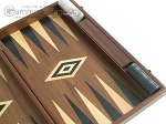 picture of 19-inch Walnut Backgammon Set - Black (10 of 12)