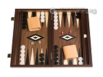 picture of 15-inch Walnut Backgammon Set - Black (1 of 12)