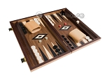 picture of 15-inch Walnut Backgammon Set - Black (2 of 12)
