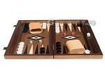 picture of 15-inch Walnut Backgammon Set - Black (4 of 12)