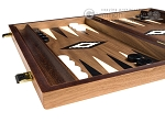 picture of 15-inch Walnut Backgammon Set - Black (4 of 11)
