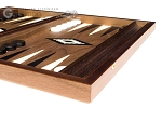 picture of 15-inch Walnut Backgammon Set - Black (6 of 12)