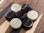 picture of 15-inch Walnut Backgammon Set - Black (7 of 12)