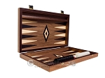 picture of 15-inch Walnut Backgammon Set - Black (10 of 12)