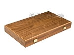 15-inch Walnut Backgammon Set - Black - Item: 2835
