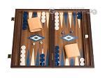 picture of 15-inch Walnut Backgammon Set - Blue (1 of 12)