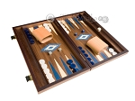 picture of 15-inch Walnut Backgammon Set - Blue (2 of 12)