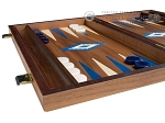 picture of 15-inch Walnut Backgammon Set - Blue (4 of 11)