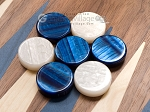 picture of 15-inch Walnut Backgammon Set - Blue (7 of 12)