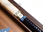 picture of 15-inch Walnut Backgammon Set - Blue (8 of 12)