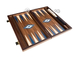 picture of 15-inch Walnut Backgammon Set - Blue (9 of 12)