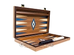 picture of 15-inch Walnut Backgammon Set - Blue (10 of 12)
