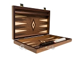 picture of 15-inch Walnut Backgammon Set - Brown (10 of 12)