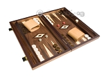 picture of 15-inch Walnut Backgammon Set - Brown (2 of 11)