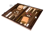 picture of 15-inch Walnut Backgammon Set - Brown (3 of 12)