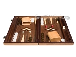 picture of 15-inch Walnut Backgammon Set - Brown (4 of 12)