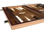 picture of 15-inch Walnut Backgammon Set - Brown (4 of 11)