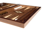 picture of 15-inch Walnut Backgammon Set - Brown (6 of 12)