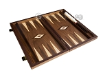 picture of 15-inch Walnut Backgammon Set - Brown (9 of 12)