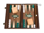 picture of 15-inch Walnut Backgammon Set - Green (1 of 12)
