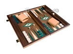 picture of 15-inch Walnut Backgammon Set - Green (2 of 11)