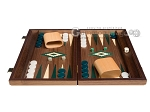 picture of 15-inch Walnut Backgammon Set - Green (3 of 11)