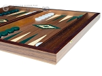 picture of 15-inch Walnut Backgammon Set - Green (6 of 12)