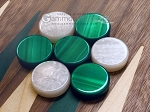 picture of 15-inch Walnut Backgammon Set - Green (7 of 12)