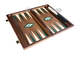 picture of 15-inch Walnut Backgammon Set - Green (9 of 12)