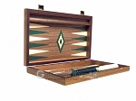 picture of 15-inch Walnut Backgammon Set - Green (9 of 11)