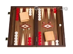 15-inch Walnut Backgammon Set - Red - Item: 2836