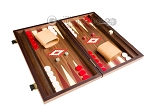 picture of 15-inch Walnut Backgammon Set - Red (2 of 12)