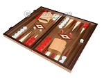 picture of 15-inch Walnut Backgammon Set - Red (3 of 12)