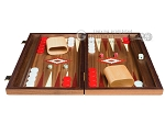 picture of 15-inch Walnut Backgammon Set - Red (4 of 12)