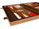 picture of 15-inch Walnut Backgammon Set - Red (4 of 11)