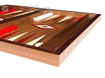picture of 15-inch Walnut Backgammon Set - Red (6 of 12)