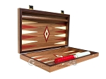 picture of 15-inch Walnut Backgammon Set - Red (9 of 11)