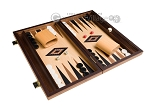 picture of 15-inch Walnut and Oak Backgammon Set - Black (2 of 12)