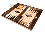 picture of 15-inch Walnut and Oak Backgammon Set - Black (3 of 12)
