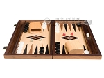 picture of 15-inch Walnut and Oak Backgammon Set - Black (3 of 11)