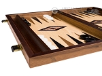 picture of 15-inch Walnut and Oak Backgammon Set - Black (4 of 11)